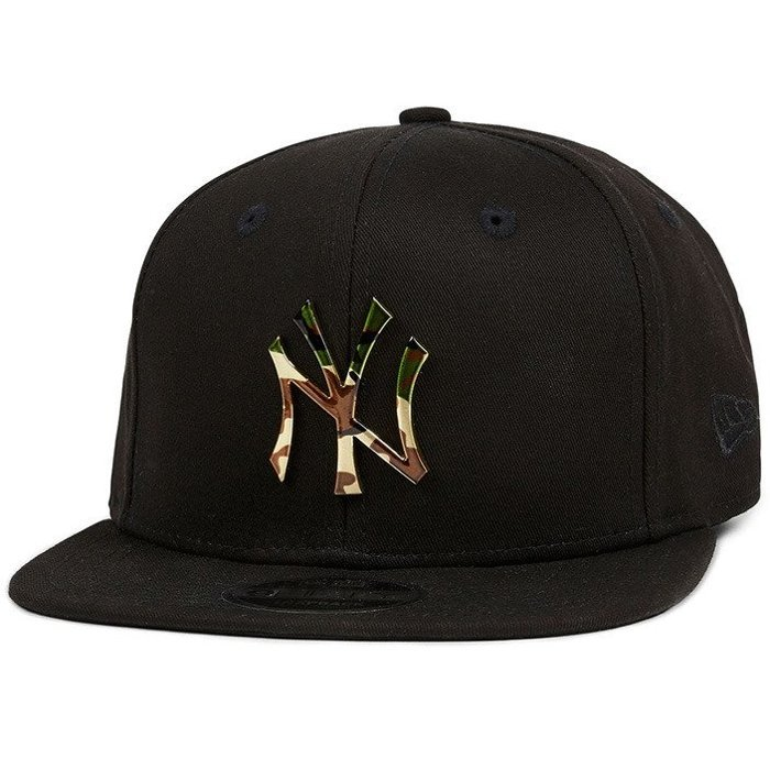 Czapka New Era NY Yankees Camo Metal Logo Snapback Black